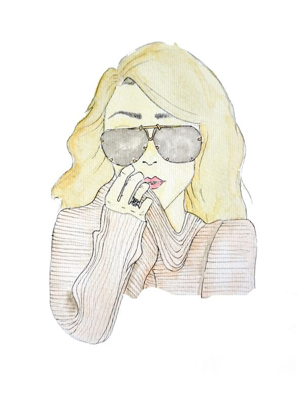 Jessica Rodriguez x TSC | sunglasses drawn portrait