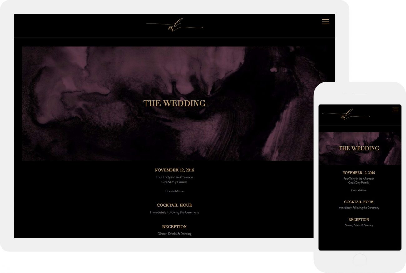 vampy gothic and modern wedding invitations