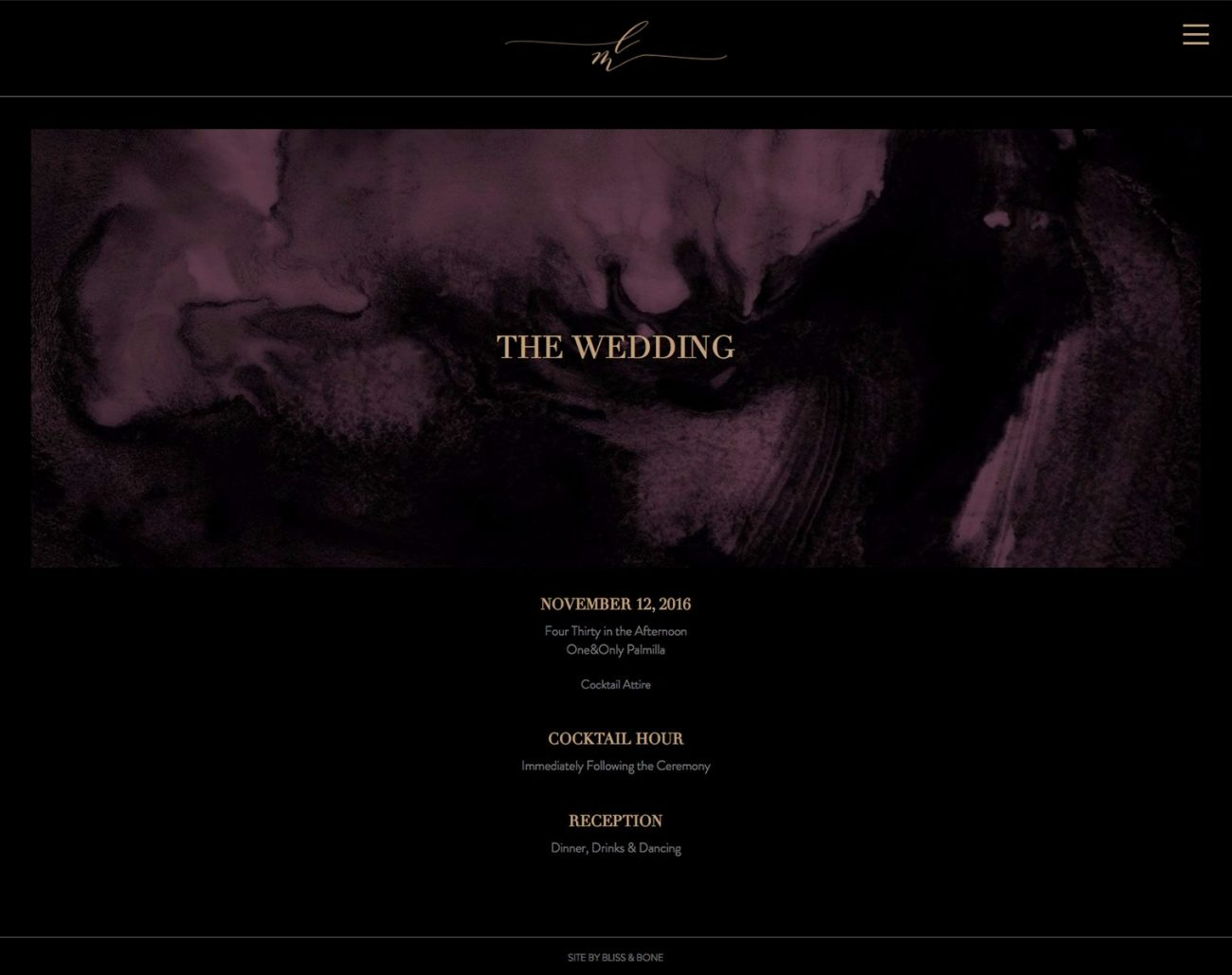 vampy gothic and modern wedding invitations