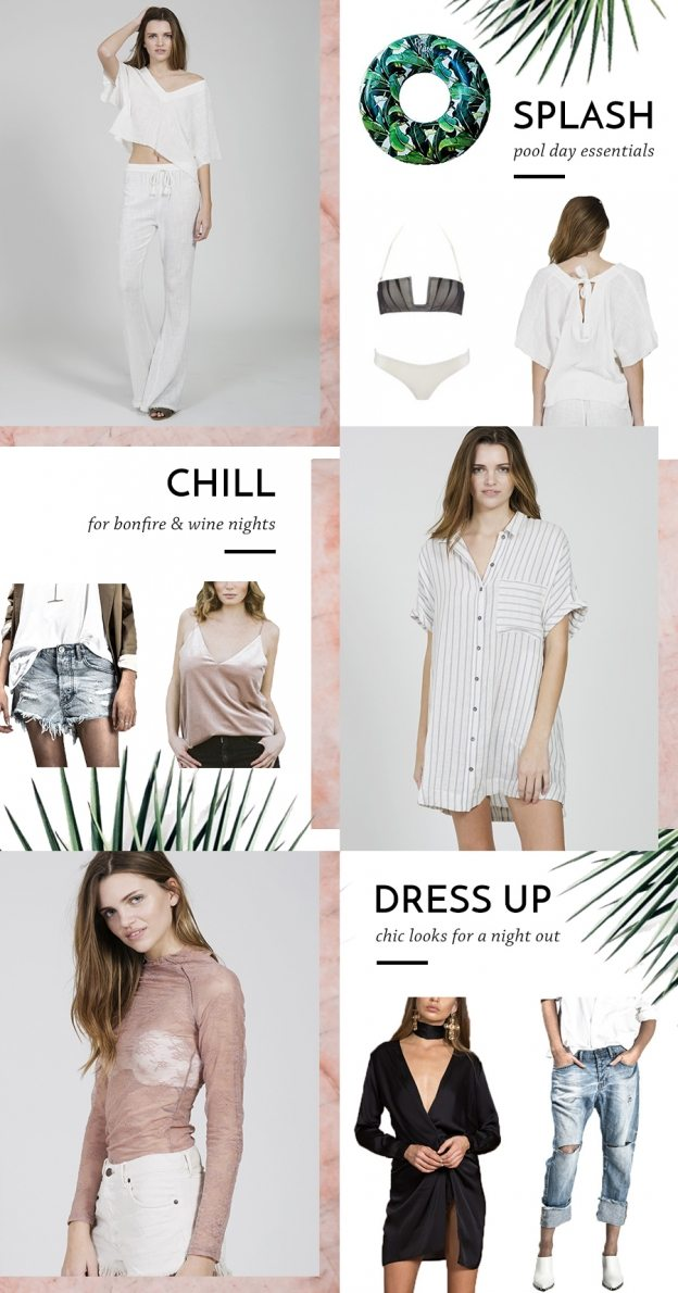 summer outfits for the pool, day and night