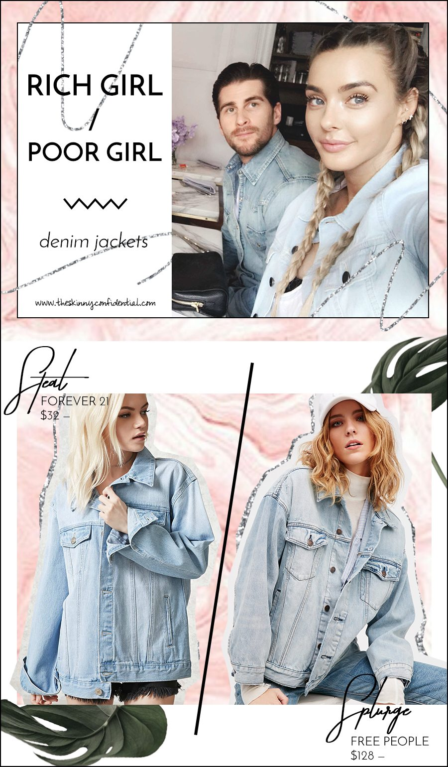 denim jacket | by the skinny confidential