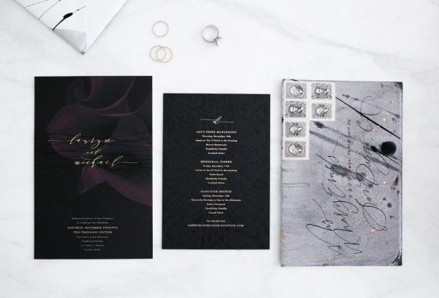 modern gothic wedding invitation | by the skinny confidential