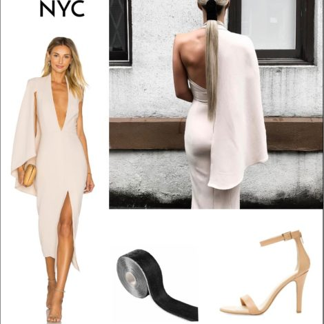 plunging nude dress top instagram summer looks | by the skinny confidential