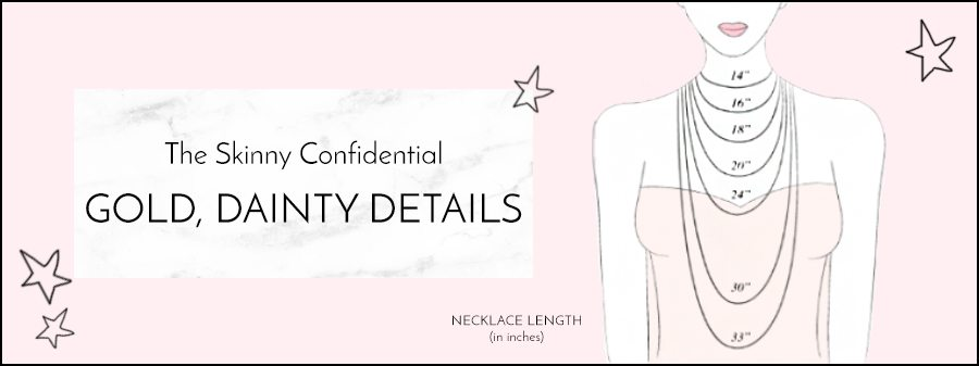 necklace length in inches | by the skinny confidential
