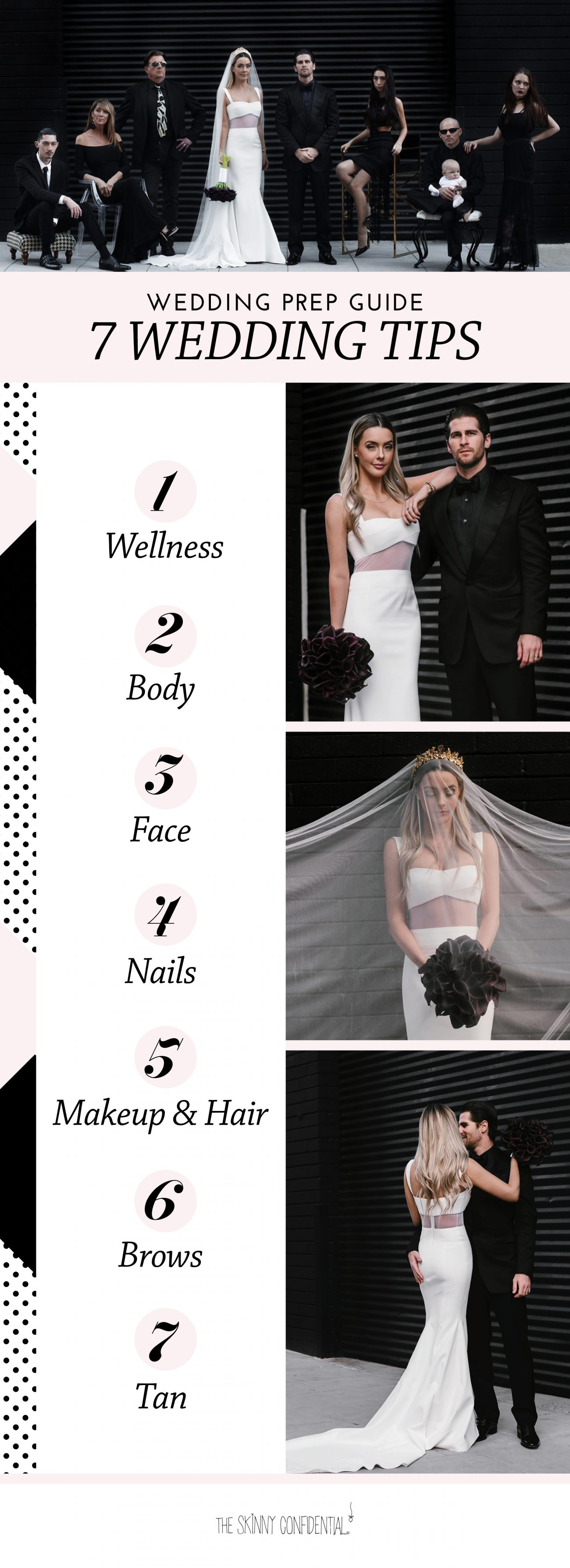 wedding prep guide by the skinny confidential