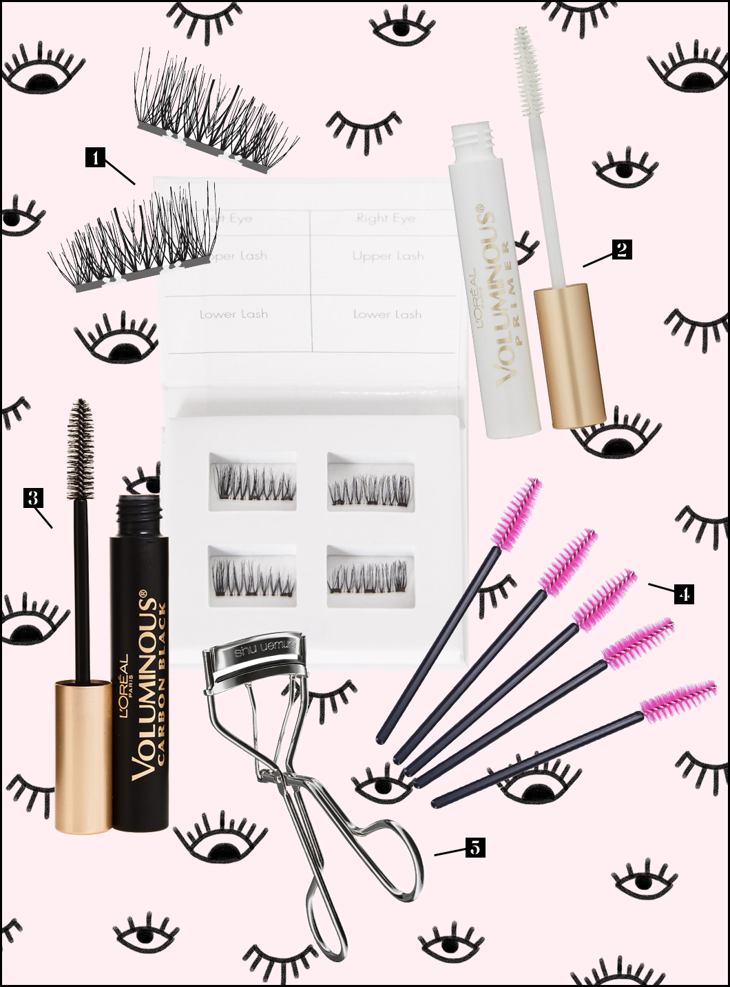 how to apply false eye lashes magnetic by the skinny confidential