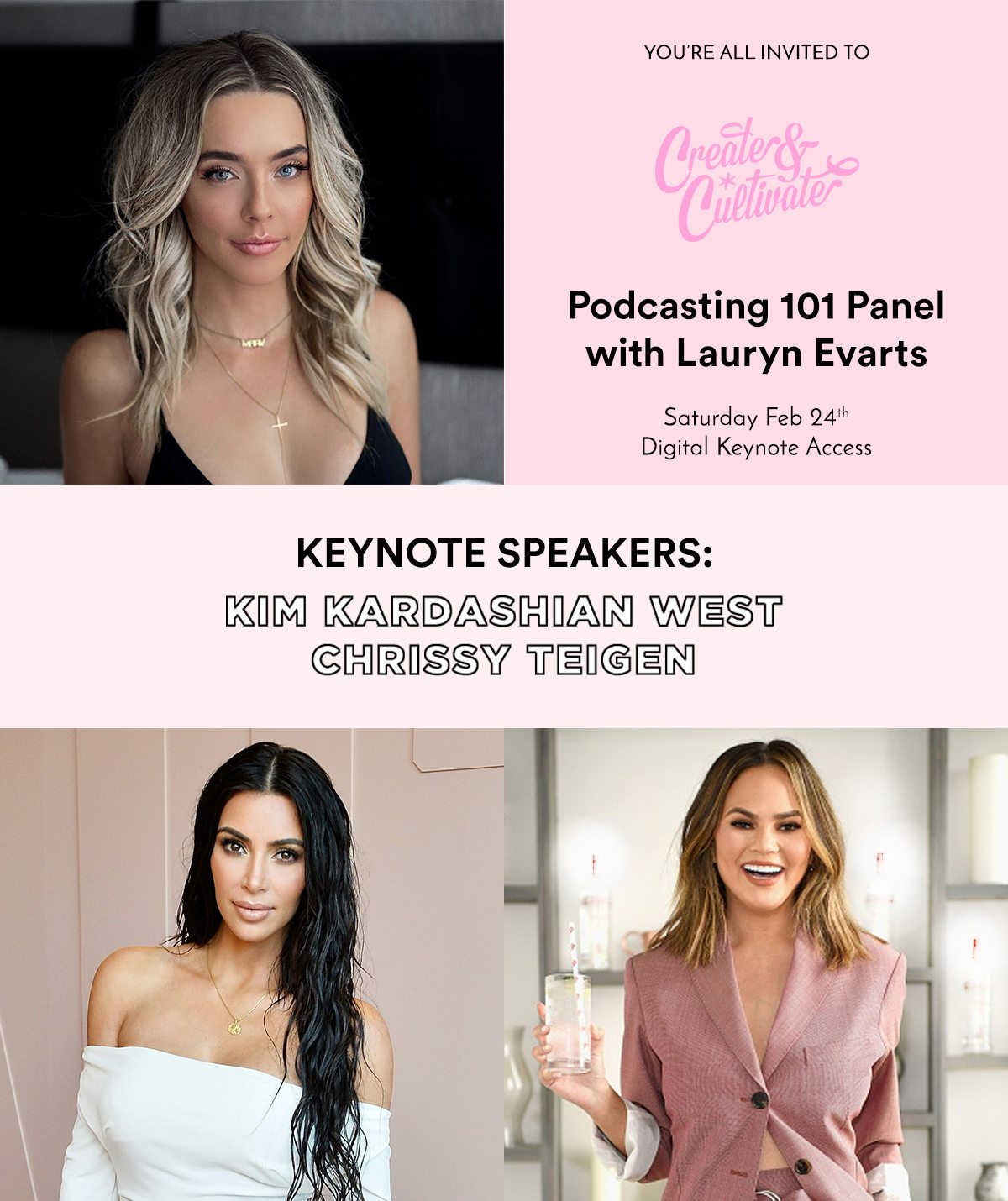kim kardashian chrissy teigan podcasting conference by the skinny confidential
