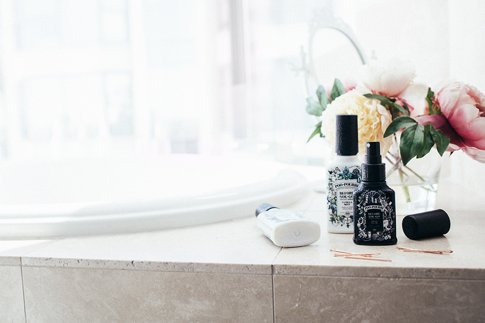 bathroom hack smell nice essential oils by the skinny confidential