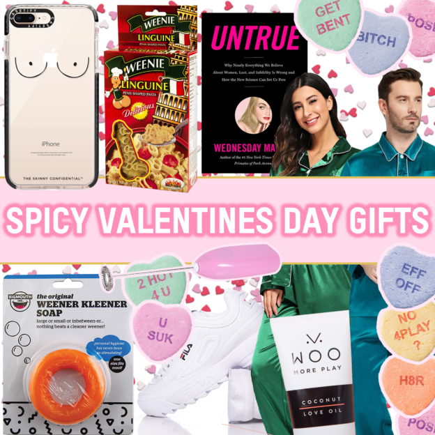 valentines day woo coconut lube boobs pajamas sexuality books untrue