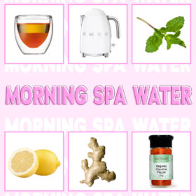 MORNING SPA WATER TO KEEP YOU NICE & HYDRATED