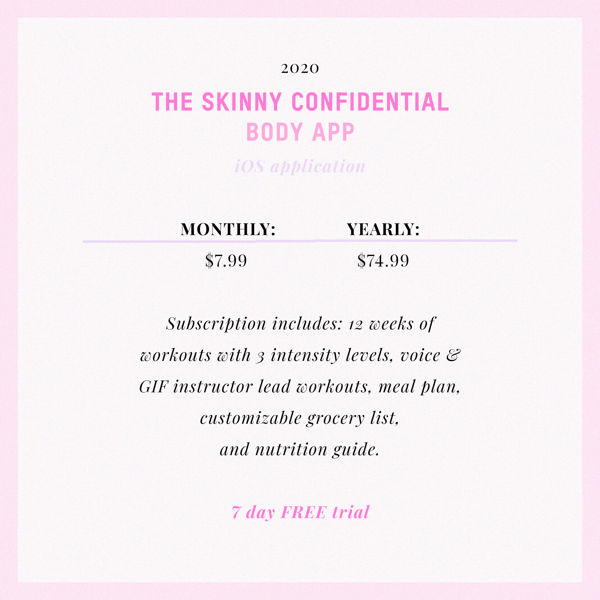 The Skinny Confidential BODY APP Is Here! 6