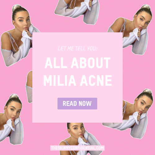 Let's Talk About a Little Bitch Called Milia