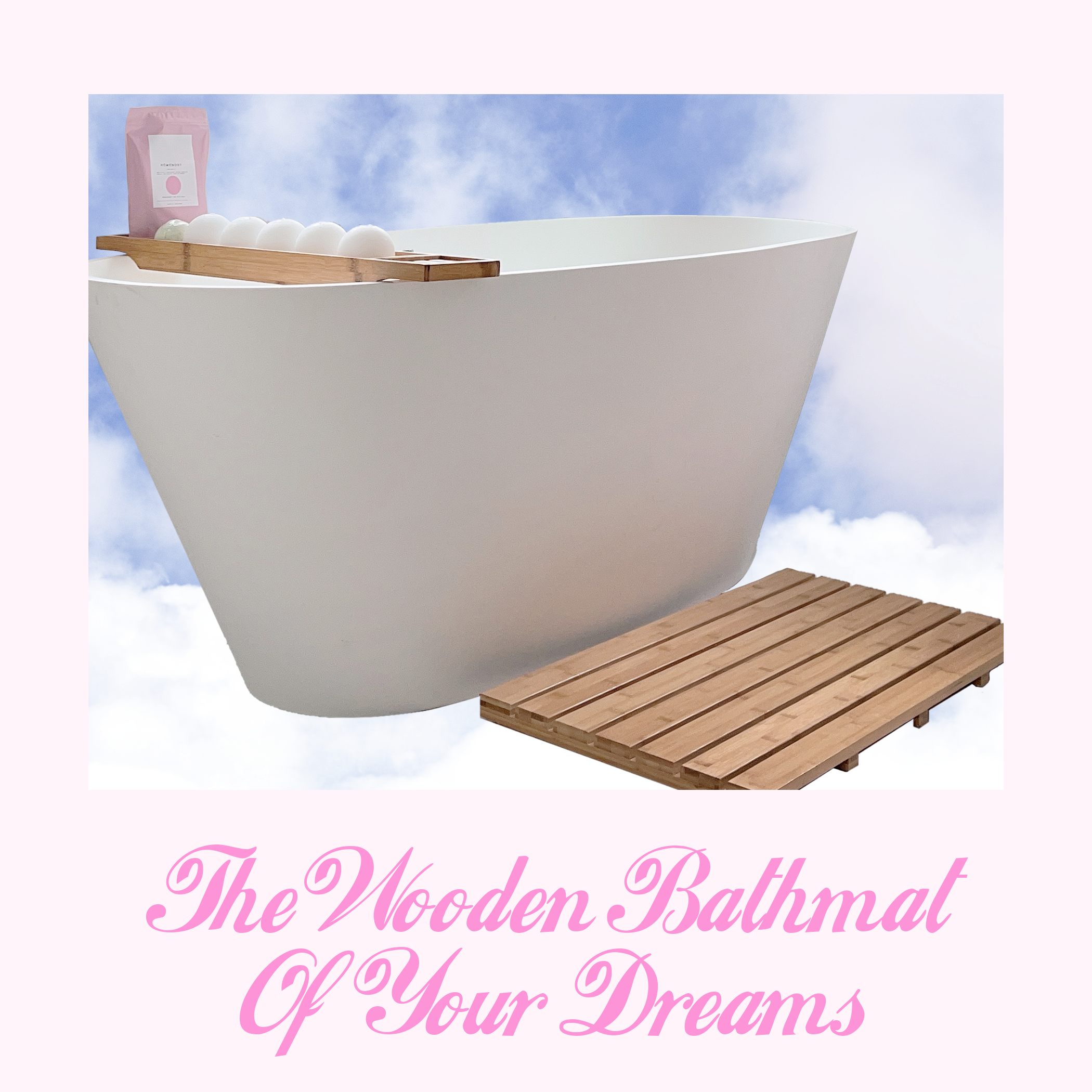 the skinny confidential bamboo bathmat | The Wooden Bathmat of Your Dreams